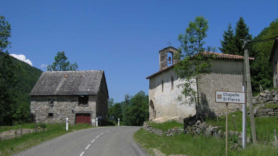 The chapel in Ercé