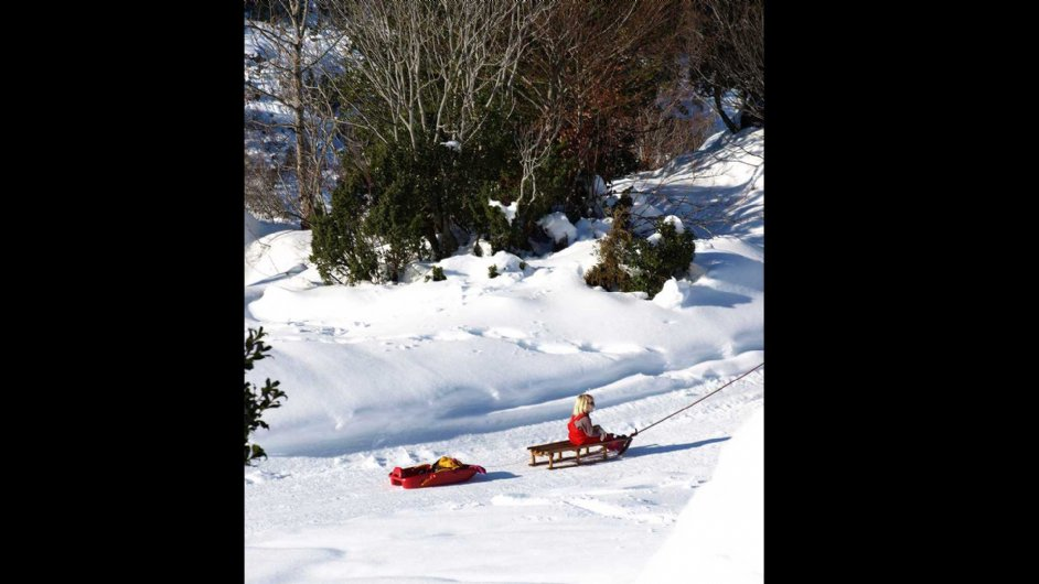 the pleasures of sledding for kids